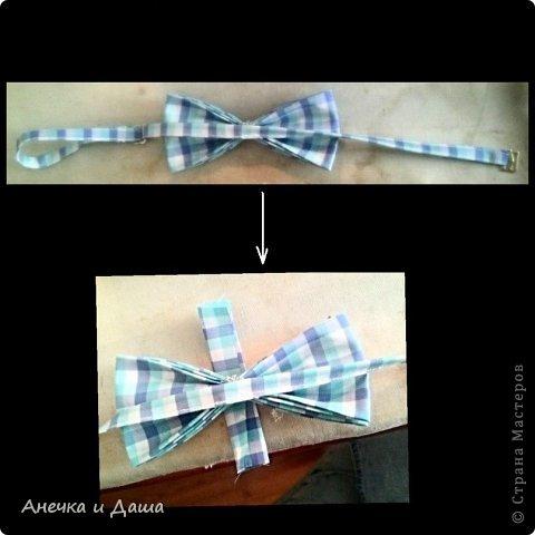 Мастер-класс Шитьё Шьём галстук-бабочку Нитки Ткань фото 16