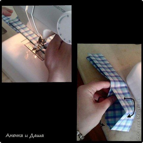Мастер-класс Шитьё Шьём галстук-бабочку Нитки Ткань фото 7
