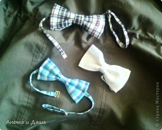 Мастер-класс Шитьё Шьём галстук-бабочку Нитки Ткань фото 1
