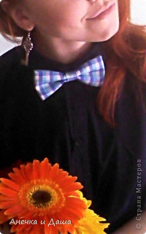 Мастер-класс Шитьё Шьём галстук-бабочку Нитки Ткань фото 18
