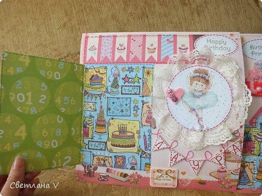 Альбом для маленькой девочки - первый год, переплет Виноградовой, обложка хлопок с синтепоном. Очень много фетра и кружева)) фото 30