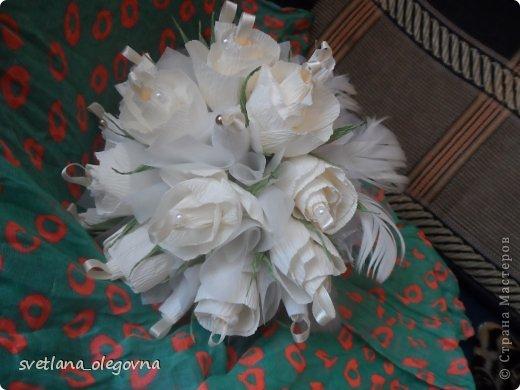 Приветствую всех)))) Представляю вашему вниманию свою последнюю работу))) Букет-дублер для невесты))) фото 2