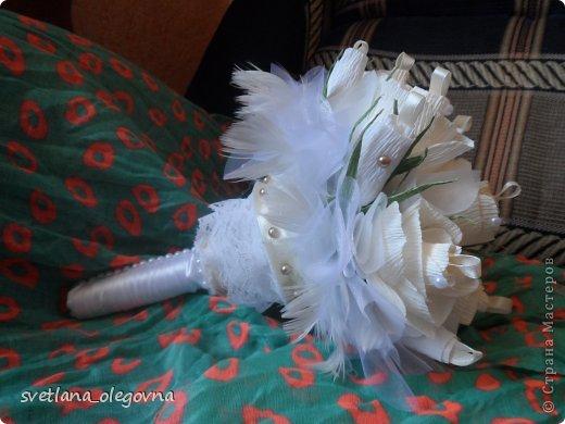 Приветствую всех)))) Представляю вашему вниманию свою последнюю работу))) Букет-дублер для невесты))) фото 1