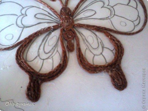 Бабочки из джута мастер класс