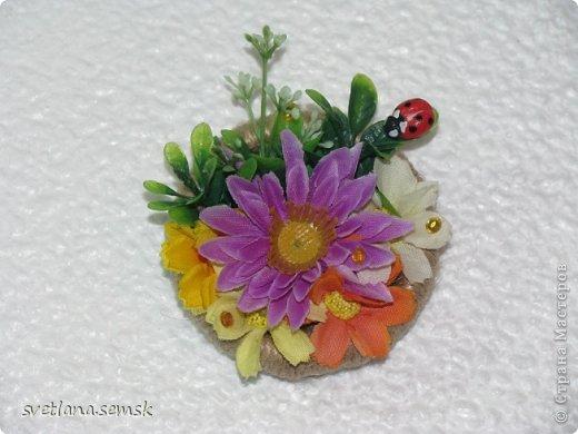 Решила выложить свои магнитики (те что успела сфотать) Первые - летние, цветочные. фото 2