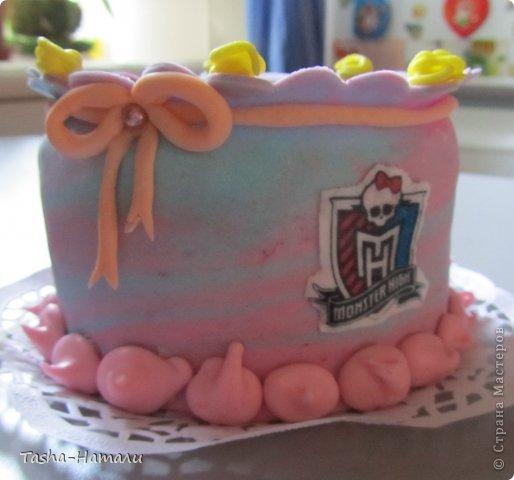 Дочери на день рожденья решила сделать не один большой торт, а 5 маленьких (по количеству подруг) А это тортик самой именинницы фото 2
