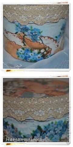 МК. Шкатулочка з картонних основ зі скотчу . фото 9
