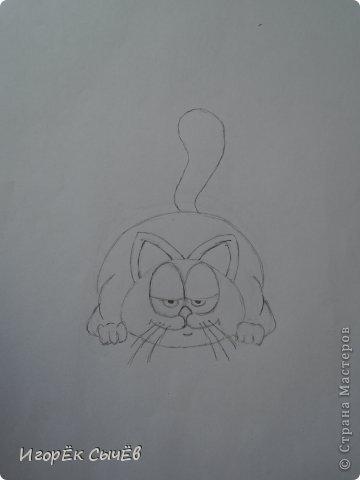 Сегодня мы будем рисовать всем известного персонажа  «Garfield». фото 7