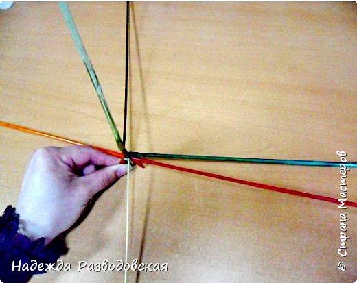 Мастер-класс. Спиральное плетение вокруг каркаса.( Из соломки, газетных трубочек, картонных полосок) фото 8