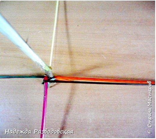 Мастер-класс. Спиральное плетение вокруг каркаса.( Из соломки, газетных трубочек, картонных полосок) фото 11
