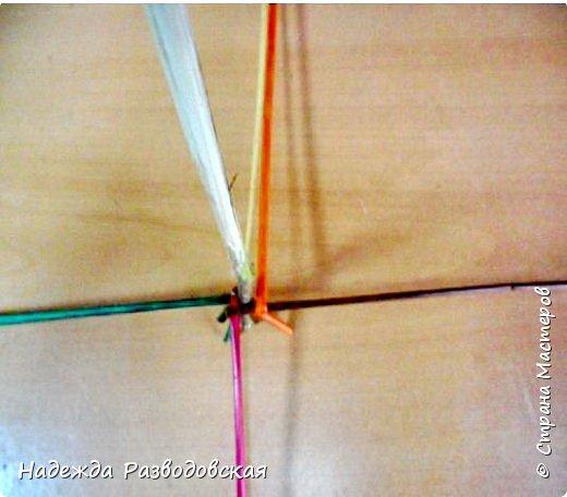 Мастер-класс. Спиральное плетение вокруг каркаса.( Из соломки, газетных трубочек, картонных полосок) фото 12