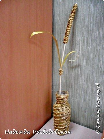 Мастер-класс. Спиральное плетение вокруг каркаса.( Из соломки, газетных трубочек, картонных полосок) фото 6