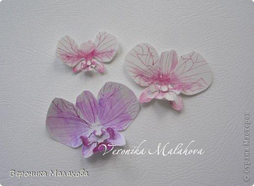 Хочу предложить вашему вниманию несложный мастер-класс по изготовлению декоративного элемента - цветок орхидеи. Он может быть центральным элементом, например, открытки или альбома. Он сам по себе выглядит очень роскошным и подарит неповторимость вашей работе :) фото 9