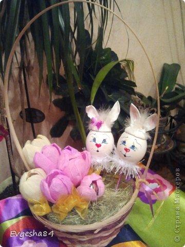 Корзинки с пасхальными кроликами фото 4