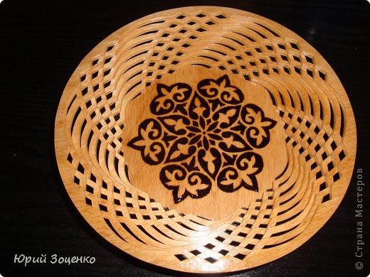 Тарелка из фанеры