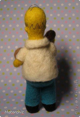 """Сегодня я к вам с """"человеческой"""" работой из шерсти, - Гомером Симсоном, героем мультфильма. фото 8"""