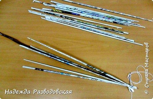 Мастер-класс. Спиральное плетение вокруг каркаса.( Из соломки, газетных трубочек, картонных полосок) фото 23