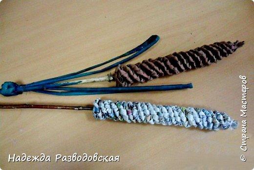 Мастер-класс. Спиральное плетение вокруг каркаса.( Из соломки, газетных трубочек, картонных полосок) фото 30