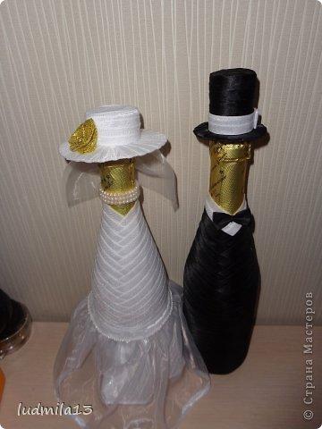 Добрый день! Готовлюсь к свадьбе дочери))) Вот сделала корзинку и букет-дублер... фото 10