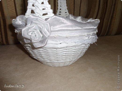 Добрый день! Готовлюсь к свадьбе дочери))) Вот сделала корзинку и букет-дублер... фото 6