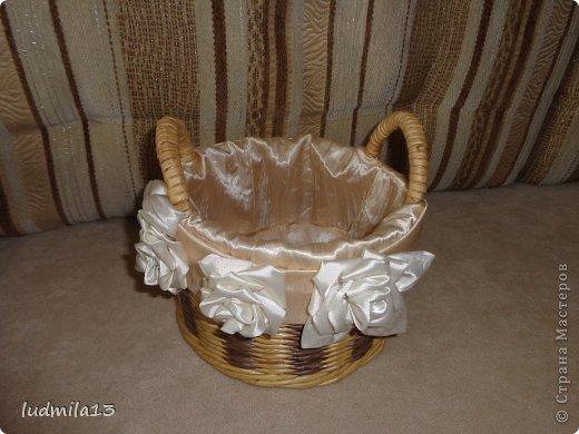 Добрый день! Готовлюсь к свадьбе дочери))) Вот сделала корзинку и букет-дублер... фото 8