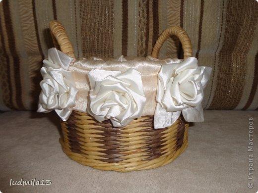 Добрый день! Готовлюсь к свадьбе дочери))) Вот сделала корзинку и букет-дублер... фото 7
