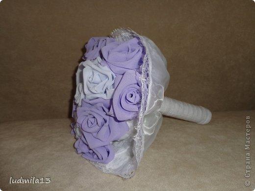 Добрый день! Готовлюсь к свадьбе дочери))) Вот сделала корзинку и букет-дублер... фото 4