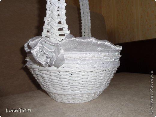 Добрый день! Готовлюсь к свадьбе дочери))) Вот сделала корзинку и букет-дублер... фото 3