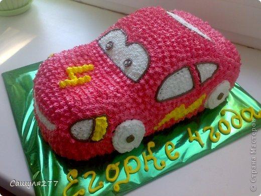 Как сделать машину торт