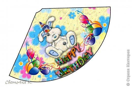 """Готовлюсь к первому Дню рождения Макса. Так как мишек тэдди я люблю давно, тематику решила выбрать соответственную - """"Голубоносые друзья мишки тэдди"""". Постараюсь в дальнейшем оформлении держаться этой линии. фото 10"""