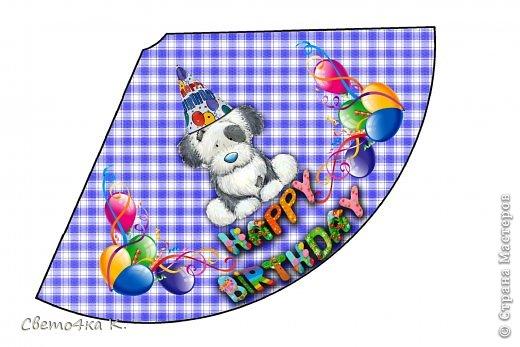 """Готовлюсь к первому Дню рождения Макса. Так как мишек тэдди я люблю давно, тематику решила выбрать соответственную - """"Голубоносые друзья мишки тэдди"""". Постараюсь в дальнейшем оформлении держаться этой линии. фото 4"""