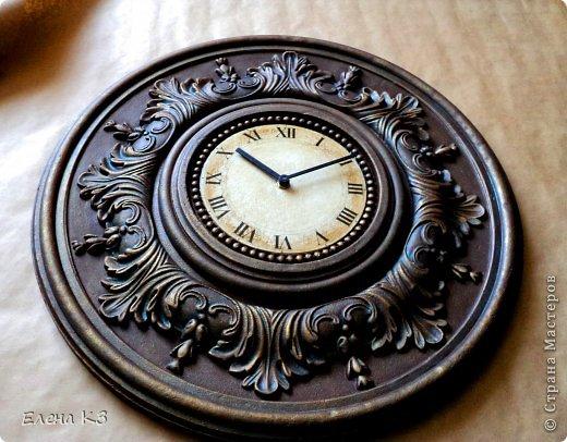 """Дорогие жители СМ! Представляю Вам мою новую работу """"Старинные часы или Антикварная лавка"""" и небольшой МК по окислению поверхности акриловой краской. фото 16"""