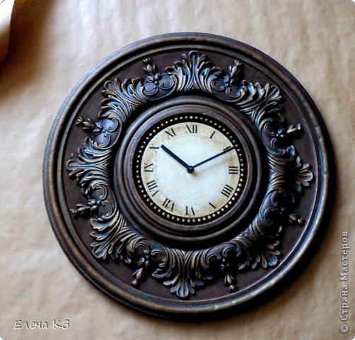 """Дорогие жители СМ! Представляю Вам мою новую работу """"Старинные часы или Антикварная лавка"""" и небольшой МК по окислению поверхности акриловой краской. фото 1"""
