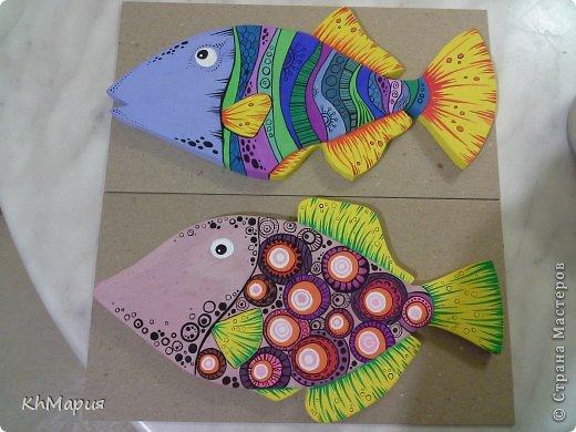 Мастер-класс Поделка изделие Роспись Гипсовые рыби МК Гипс Краска фото 1