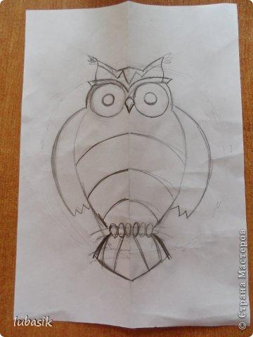 """Когда я выставила в прошлом посту панно в """"бронзе"""" http://stranamasterov.ru/node/771283#comment-10850215 , многие мастерицы попросили рассказать, как я его сделала. Выполняю просьбу. Чтобы сделать МК, пришлось делать другое панно. Решила сделать совушку - символ мудрости. фото 12"""