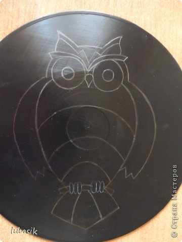 """Когда я выставила в прошлом посту панно в """"бронзе"""" http://stranamasterov.ru/node/771283#comment-10850215 , многие мастерицы попросили рассказать, как я его сделала. Выполняю просьбу. Чтобы сделать МК, пришлось делать другое панно. Решила сделать совушку - символ мудрости. фото 14"""