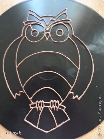 """Когда я выставила в прошлом посту панно в """"бронзе"""" https://stranamasterov.ru/node/771283#comment-10850215 , многие мастерицы попросили рассказать, как я его сделала. Выполняю просьбу. Чтобы сделать МК, пришлось делать другое панно. Решила сделать совушку - символ мудрости. фото 28"""