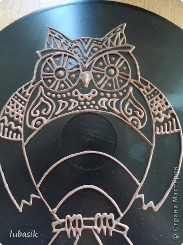 """Когда я выставила в прошлом посту панно в """"бронзе"""" http://stranamasterov.ru/node/771283#comment-10850215 , многие мастерицы попросили рассказать, как я его сделала. Выполняю просьбу. Чтобы сделать МК, пришлось делать другое панно. Решила сделать совушку - символ мудрости. фото 29"""