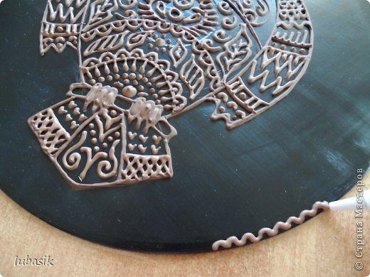 """Когда я выставила в прошлом посту панно в """"бронзе"""" http://stranamasterov.ru/node/771283#comment-10850215 , многие мастерицы попросили рассказать, как я его сделала. Выполняю просьбу. Чтобы сделать МК, пришлось делать другое панно. Решила сделать совушку - символ мудрости. фото 31"""