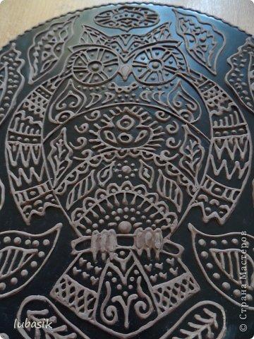 """Когда я выставила в прошлом посту панно в """"бронзе"""" http://stranamasterov.ru/node/771283#comment-10850215 , многие мастерицы попросили рассказать, как я его сделала. Выполняю просьбу. Чтобы сделать МК, пришлось делать другое панно. Решила сделать совушку - символ мудрости. фото 35"""