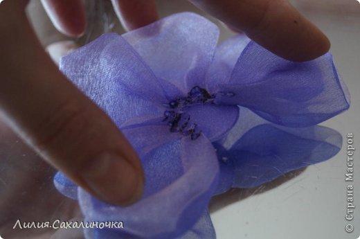 Мастер-класс Украшение Гильоширование Мастер-класс Розы из органзы Ленты Ткань фото 19