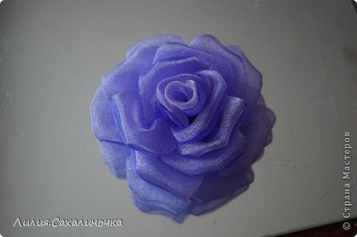 Мастер-класс Украшение Гильоширование Мастер-класс Розы из органзы Ленты Ткань фото 23