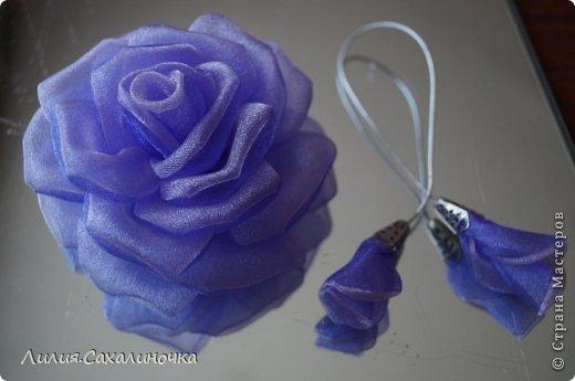 Мастер-класс Украшение Гильоширование Мастер-класс Розы из органзы Ленты Ткань фото 25