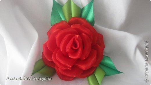 Мастер-класс Украшение Гильоширование Мастер-класс Розы из органзы Ленты Ткань фото 32