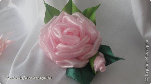 Мастер-класс Украшение Гильоширование Мастер-класс Розы из органзы Ленты Ткань фото 33