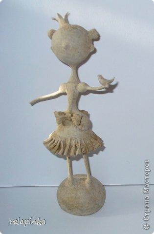 Куклы Мастер-класс Папье-маше Принцесса эксперимент и небольшой мк Бумага фото 12