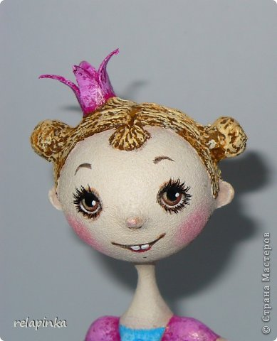 Куклы Мастер-класс Папье-маше Принцесса эксперимент и небольшой мк Бумага фото 1
