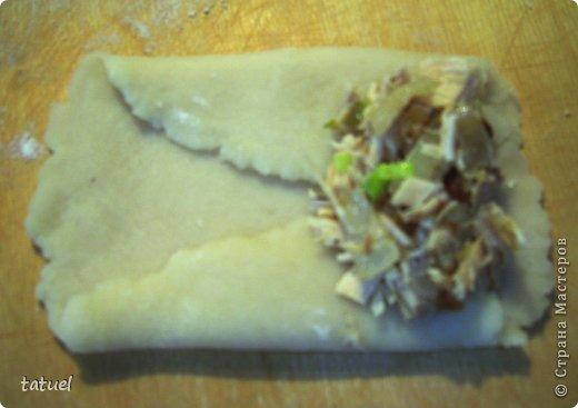 Всем здравствуйте! Сегодня рекомендую рецепт приготовления закусочных трубочек. Часто остается вареное куриное мясо. В этом рецепте мяса много  не надо- хватило недоеденных остатков от половинки курочки.  фото 9