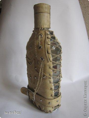 Декор предметов Аппликация Декупаж Моделирование конструирование Вот когда я подытожу  скольких я одела в кожу  Клей Кожа Краска Металл Шпагат фото 18