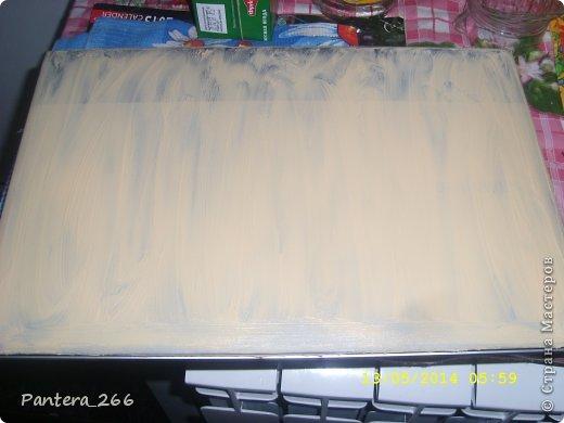 Декор предметов Мастер-класс Аппликация из скрученных жгутиков Декупаж Декупаж ноутбука в сочетании с техникой Пейп-арт Бумага Клей Краска Салфетки фото 4